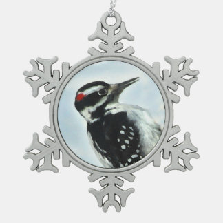 Ornamento melenudo del copo de nieve del estaño de adornos