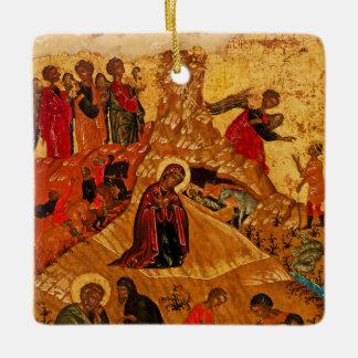 Ornamento ortodoxo del icono de la natividad