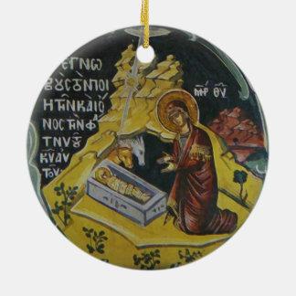Ornamento ortodoxo del navidad del icono de la