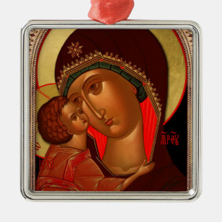 Ornamento ortodoxo del navidad - Novgorod Adorno Navideño Cuadrado De Metal