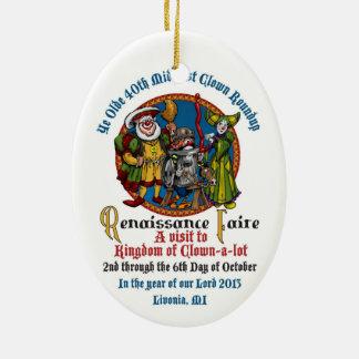 Ornamento oval del MCA 40.o Adornos De Navidad