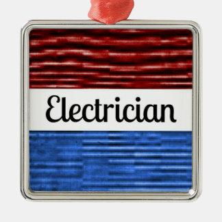 Ornamento patriótico del navidad del electricista ornato