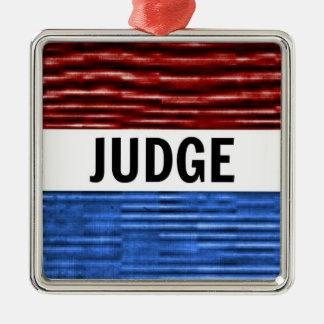 Ornamento patriótico del navidad del juez