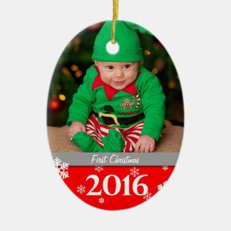 Ornamento personalizado 2016 del árbol de navidad
