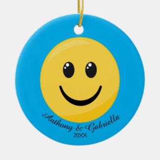 Ornamento personalizado cara feliz de Emoji