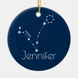 Ornamento personalizado de la constelación de
