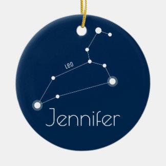 Ornamento personalizado de la constelación de Leo