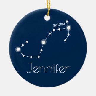 Adorno De Cerámica Ornamento personalizado de la constelación del