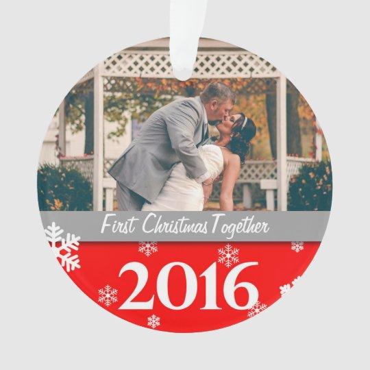 Ornamento personalizado de la foto del navidad
