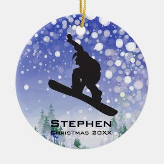 Ornamento personalizado de la snowboard