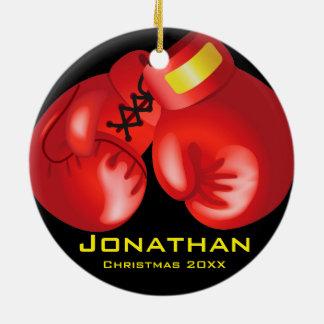 Ornamento personalizado de los guantes de boxeo