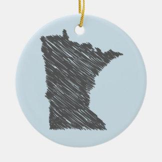 Ornamento personalizado de Minnesota