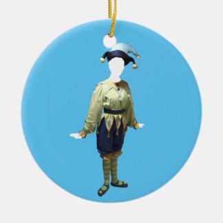Ornamento personalizado de Polichinelle del Adorno Navideño Redondo De Cerámica
