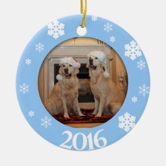 Ornamento personalizado del árbol de navidad de la