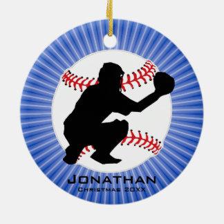 Ornamento personalizado del béisbol (colector)