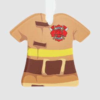Ornamento personalizado del bombero del bombero