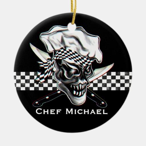 Ornamento personalizado del cocinero ornaments para arbol de navidad