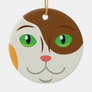 Ornamento personalizado del día de fiesta del adorno navideño redondo de cerámica