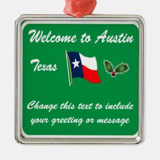 Ornamento personalizado del navidad de Austin TX