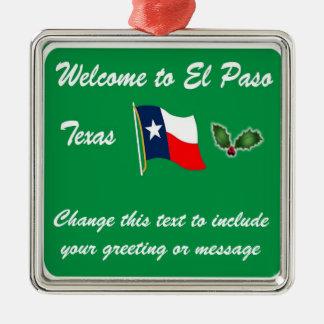 Ornamento personalizado del navidad de El Paso TX