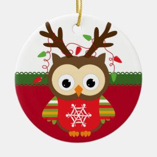 Ornamento personalizado del navidad del búho