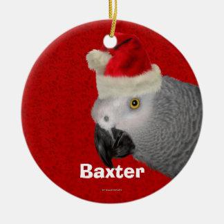 Ornamento personalizado del navidad del loro ornaments para arbol de navidad