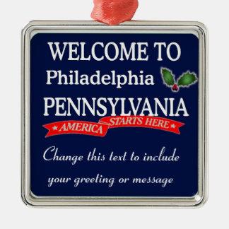 Ornamento personalizado del navidad del PA de