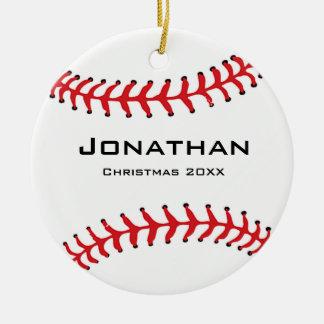 Ornamento personalizado del softball del béisbol