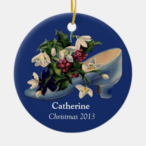 Ornamento personalizado del zapato del navidad del ornaments para arbol de navidad