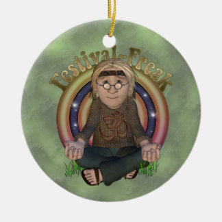 Ornamento personalizado monstruo del festival adorno navideño redondo de cerámica