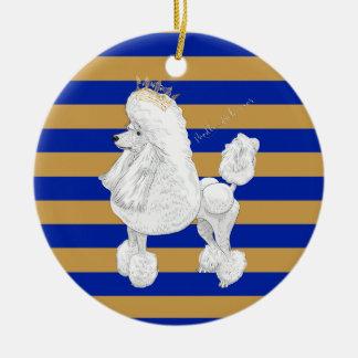 Ornamento personalizado navidad del comportamiento adorno navideño redondo de cerámica