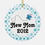 Ornamento personalizado nueva mamá del navidad del adorno de reyes