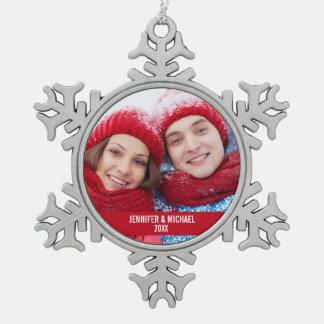 Ornamento personalizado R del copo de nieve del Adorno De Peltre En Forma De Copo De Nieve