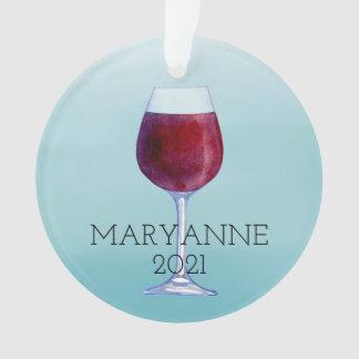 Ornamento personalizado vino del navidad de la