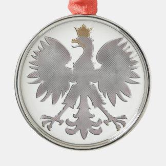 Ornamento polaco de Bling Eagle Adorno Navideño Redondo De Metal