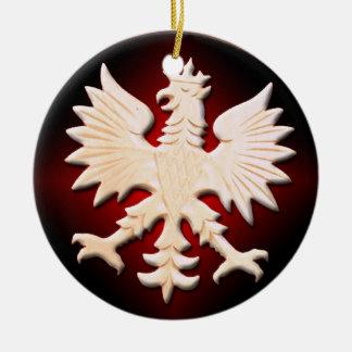 Ornamento polaco de Eagle del vintage Adorno Navideño Redondo De Cerámica