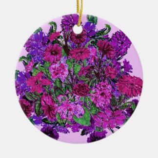 Ornamento púrpura bonito suave femenino de las adorno redondo de cerámica