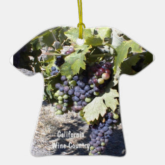 Ornamento: Racimos de la uva del país vinícola de Adorno De Cerámica En Forma De Camiseta