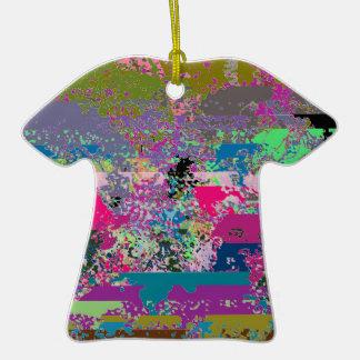 Ornamento rayado de la camiseta de la barajadura adornos