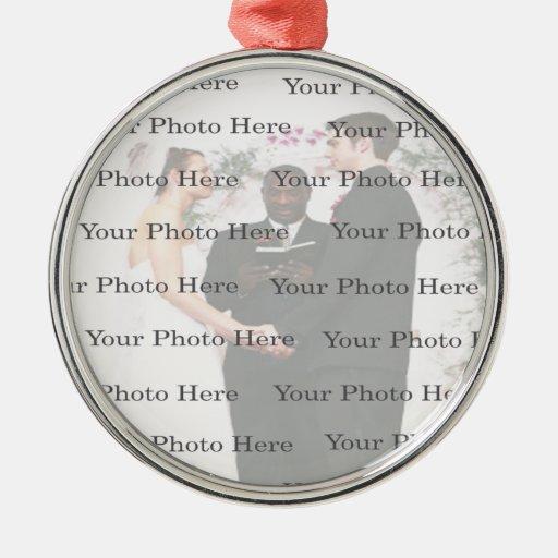 Ornamento redondo de encargo de la bodas de plata  ornato