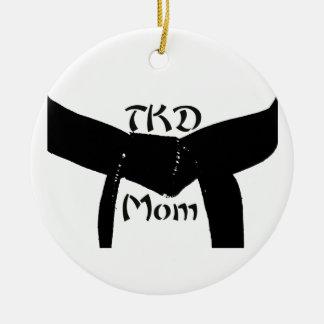 Ornamento redondo de la mamá de encargo de los adorno redondo de cerámica