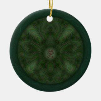 Ornamento redondo de la polilla de Luna Adorno Redondo De Cerámica