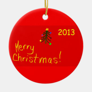 Ornamento redondo del navidad de las Felices Adorno Redondo De Cerámica