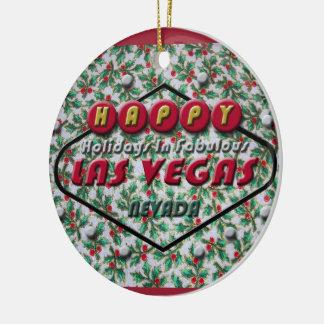 Ornamento redondo del navidad de Las Vegas Ornamento De Reyes Magos