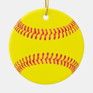 Ornamento redondo del navidad del softball