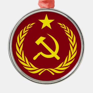 Ornamento redondo superior de la bandera comunista