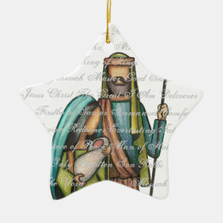 Ornamento religioso del navidad adorno navideño de cerámica en forma de estrella
