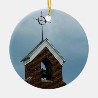 Ornamento religioso del navidad de la aguja de la adorno navideño redondo de cerámica