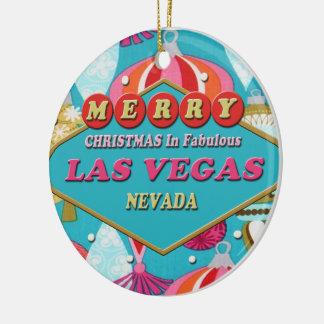 Ornamento retro de Las Vegas de las Felices Ornamentos De Reyes