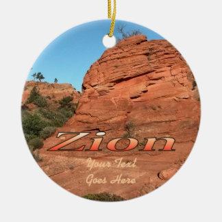 Ornamento: Roca roja en Zion (círculo) Ornaments Para Arbol De Navidad